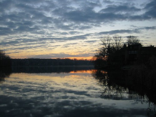 Winter sunrise over Thoreau - 2-21-06 3
