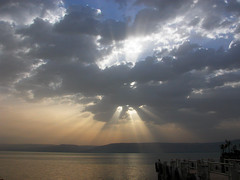 Sea Of Galilee (Tonym1) Tags: sea water clouds israel nikonstunninggallery