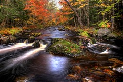 River (iJohn) Tags: red orange colour tree green fall water leaves rock river moss 89points subtlehdr abigfave superbmasterpiece