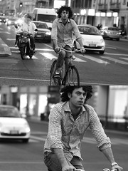 [La Mia Città][Pedala] (Urca) Tags: milano italia 2016 bicicletta pedalare ciclisti ritrattostradale portrait dittico nikondigitale mirò bike bicycle biancoenero blackandwhite bn bw 907160