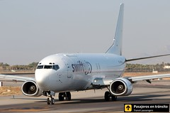 Boeing B737 Swiftair (Ana & Juan) Tags: airplane airplanes aircraft airport aviation aviones aviación boeing b737 737 swiftair cargo taxiing alicante alc leal spotting spotters spotter planes canon closeup