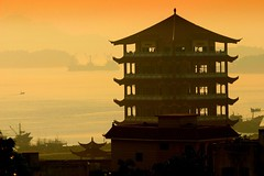 Golden Day Ahead (CharlieBrown8989) Tags: china boy fruit soup pagoda yahoo interestingness flickr picasa vegetable best explore top20hallfame top20landscape fujian charliebrown8989 chinesecharacter dongshan corel telezoom wildyam chayshin paintshopprox