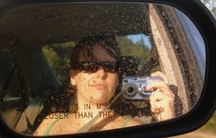 closer (iGinny) Tags: me reflection mirror sideview oregon portland car selfportrait riding fun