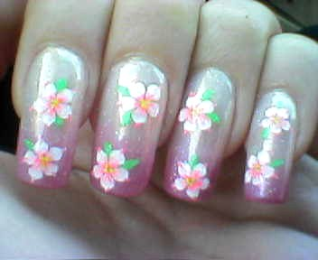 Nail art gallery flower airbrush nail art flower airbrush nail art design prinsesfo Images
