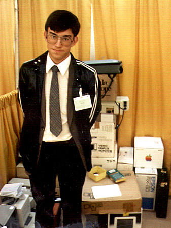 nerd apple vancouver geek hipster retro miller derek slacks penmachinecom 1980s 1985 tradeshow geeky appleii millhair computershow derekmiller penmachine yourgeekiestphotos nerdiestphotoever dorkyearbook