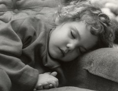Stephanie (3dogsmom) Tags: child sleeping bw happybirthdaysteph film scanned
