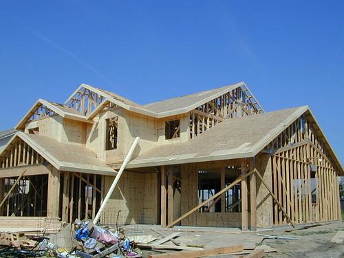 New home construction - Modesto - California - 2002