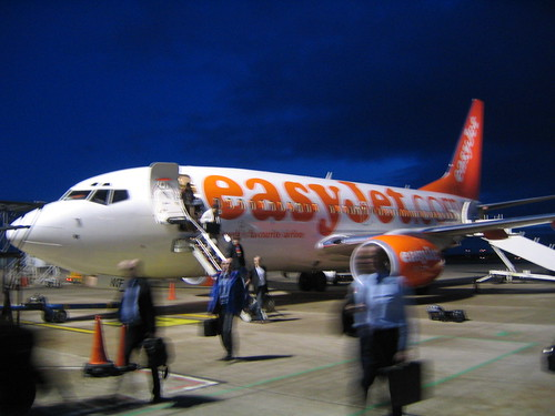 Our Easyjet Boeng 737-700 on the tarmac at Bristol