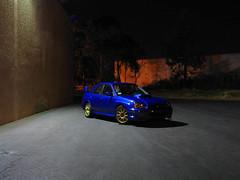 Lonesome (SXN) Tags: 2005 auto longexposure blue light shadow car bronze night canon rally wide automotive powershot squid subaru pierce rims a70 wrx sti f8 scoop 15sec sxn 54mm soracco piercesoracco 2013piercesoracco piercesoraccocom piercesoracco