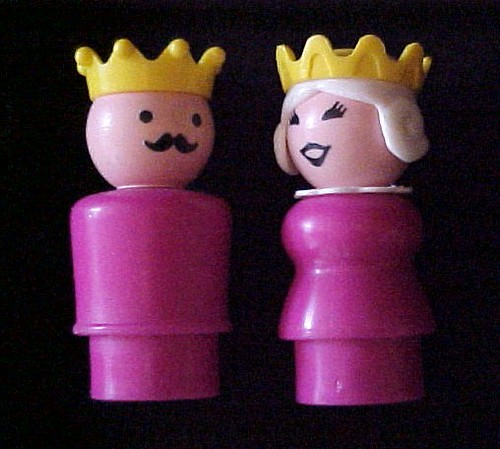 King and Queen Fisher Price Little People ~ This Photo has Over 10,000 Views!