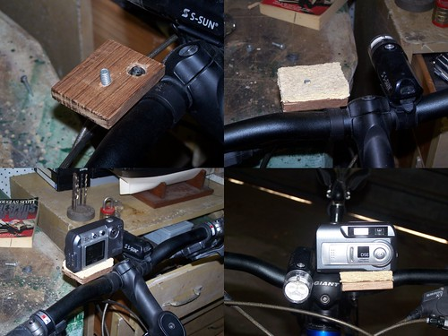 Preliminary bicycle camera mount