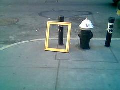 frame (jimn) Tags: cameraphone hydrant sidewalk frame grey