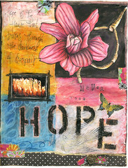 Never Lose Hope (Kelly Angard) Tags: colors collage canon mixedmedia 200views craftygirl artjournal kellya mixedmediaart kellyangard 10favorites thecraftygirl efs1755mm kellyafineartphotography