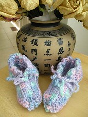 Baby Booties (RoxanneZYG) Tags: babybooties crochet