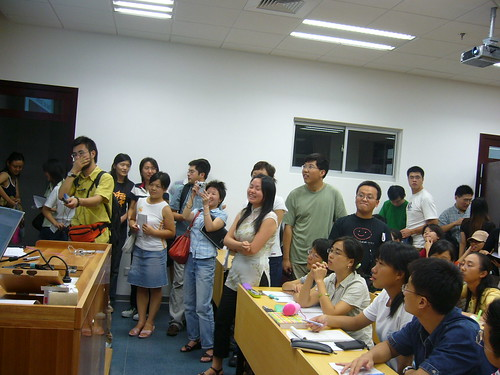 press and students at 1st fudan university homosexual studies course