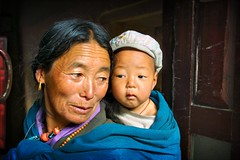 mother and child - asia child mother travel nepal motherandchild babywearing annapurna phitar 2002