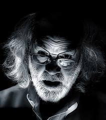 Einstein - The Normal One? (Ali Brohi) Tags: lighting blackandwhite bw dark weird model funny einstein tint spooky protrait parody copy seedingchaos moazzambrohicom httpwwwmoazzambrohicom wwwmoazzambrohicom
