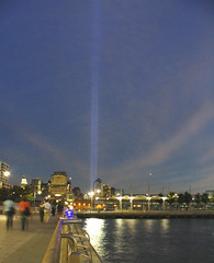 Sept 11 2004, Lights (Lanterna) Tags: sky inspiration reflection night river lights 911 hudsonriver tribute september11 remembrance memento lanterna greenwichvillage consolation canonpowershota75 hrp memoriallights