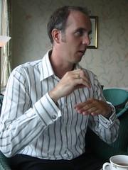 Richard sipping tea