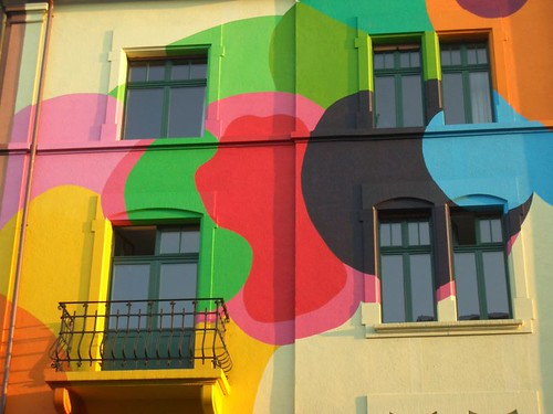 painted house in Basel, detail