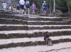 Left behind (gerriet) Tags: boy favorite topv111 stairs contrast mexico sad inho maya poor yucatan tourist fav15 dejection fav1 111v1f