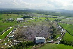 Aerial shot of Phish concert in Coventry, VT (mediaransom) Tags: phish concert coventry vermont music aerial aerialshots crowd