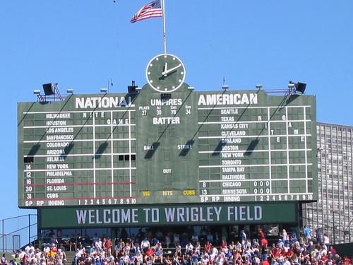 scoreboard wrigley