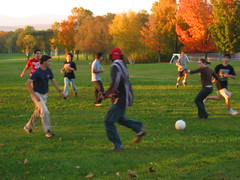 soccer du soir (dragfyre) Tags: jeunes bahais quebec qubec canada bahai youth conference confrence automne autumn fall color sunset geotagged geolat46896962 geolon71067306