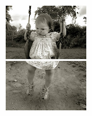 Getting into the swing of things (toyfoto) Tags: baby 21months family document growing swing diptych namethatemotion weeklyemotion idioms pcss