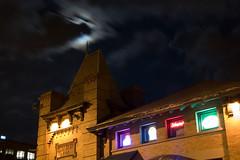 Smokin' Blues Train Station (BigFrank) Tags: dinosaur barbque nightshots moon clouds neon deleteme10 delete delete2 delete3 save save delete4 delete5 delete6 delete7 save2 delete8