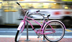 Bike and Bus (Thomas Hawk) Tags: sanfrancisco california city pink usa motion bus topf25 bike bicycle topv111 delete5 delete2 topf50 topv555 unitedstates fav50 delete6 10 unitedstatesofamerica save3 delete3 save7 save8 delete delete4 save save2 fav20 save9 save4 muni save5 save10 marketstreet save6 fav30 cruiser marketst fav10 fav25 fav100 fav200 fav40 fav60 fav90 fav80 fav70 superfave