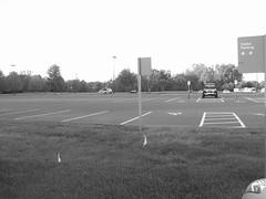 6:48pm Empty parking lot (jacqueline-w) Tags: dilosep05 dilosept05 jacquelinew empty bw parkinglot dilosep05bw