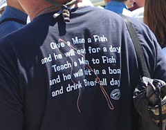 T-Shirt-Teach A Man To Fish by Beige Alert, on Flickr
