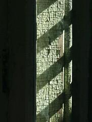 paint pattern (Miss Plum) Tags: esp easternstatepenitentiary philadelphia pa prison september 2005 paint aged cracked shadow bars geotagged geolat39967340 geolon75173740