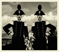 my great-grandfather  with his brother in occasion of the Pinocchio's arrest (official photo) (Anandamide) Tags: 2005 show mostra family art s