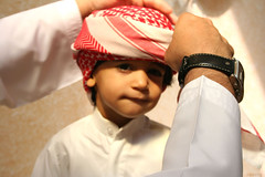 """""""Any man can be a father.  It takes someone special to be a dad.""""  ~Author Unknown (Anas Bukhash (nascity)) Tags: boy baby topf25 kids children interesting child traditional topc75 uae eid culture traditions wear arab innocence learning teaching tradition headress canon50mmf14 mybest10 kalkool 1500v60f arabclothing nascity"""