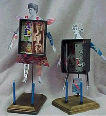 First try - alterations to come (Terry.Tyson) Tags: art paper shrine artdoll t2