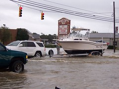Bridger Street (US 17) (General Wesc) Tags: flood boat uploadedbyluca washingtonnc