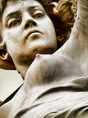send me an angel (Cilest) Tags: vienna sculpture woman art monochrome beauty stone sepia angel austria cilest frombelow engel sigi