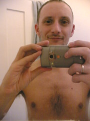 After a shower (2) (OwenBlacker) Tags: cameraphone shirtless london me armpit moblog phonecam bathroom mirror chest chesthair nokia6680 llundain owenblacker