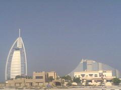 Burj Al Arab & Jumaira beach Hotel (AL Nuaimi) Tags: al nuaimi dxb dubai uae mobile digital
