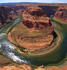 Horseshoe Bend (JoLoLog) Tags: arizona usa green landscape ilovenature interestingness rocks bend joe coloradoriver mostfavorited redrocks horseshoebend blueribbonwinner olympusc5050z anawesomeshot worldwidelandscapes multimegashot thenewselectbest yourwonderland