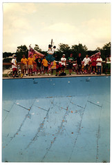 Indy Backflip 1 of 2, 1990 (keaggy.com) Tags: mathoffman matthoffman backflip halfpipe indianapolis kov kouv kingofvert 2hip marklewman scotttowne keaggy bmx freestyle bike bicycle spikejonze