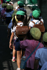 Two by two (Lil [Kristen Elsby]) Tags: japan children japanese tokyo asia child topv1111 hats frombehind elementaryschool pairs getty  schoolchildren setagaya shimokitazawa gettyimages shimo  schoolbag eastasia shimokita schoolouting   setagayaku daita   shindaita   gettyimagesonflickr