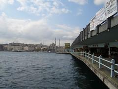 Galata Bridge in Istanbul.