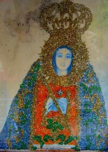 Guadalupe on cardboard