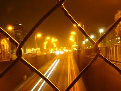Maastunnel. (P Villerius) Tags: maas cars streaks lights fence rotterdam zuid maastunnel night nightshot