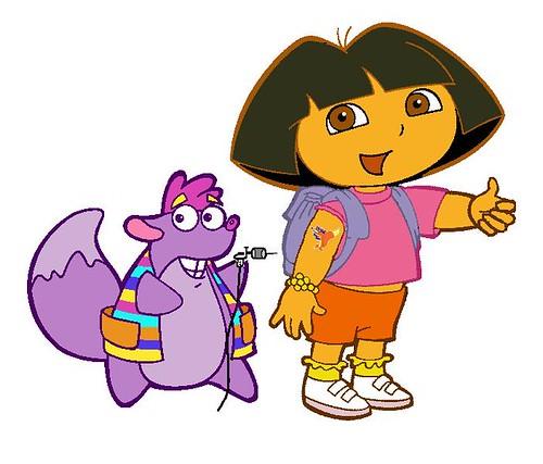 Dora gets a tattoo!