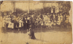 River Baptism (mrwaterslide) Tags: religion baptism river umbrella oldphoto vernacular antique soaked sexy vintage south southern dunked dunking congregation hellfireandbrimstone