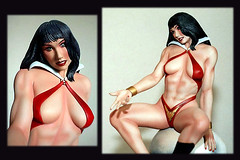 Vampirella (sit on skull) 4 - Resin Model Kit (comtrag) Tags: resinmodelkit modelkit model figurine vampirella